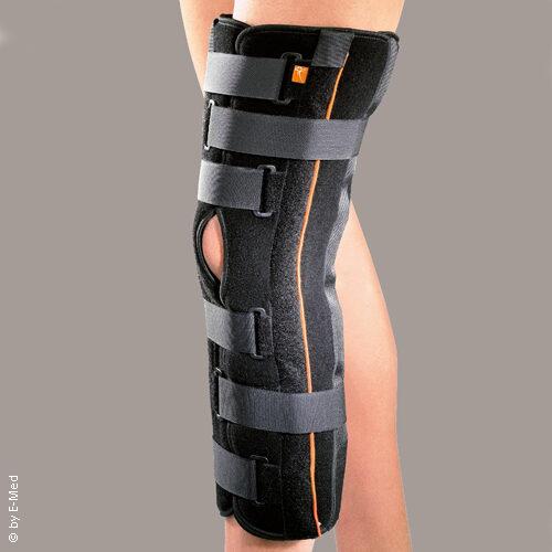 Knie-Ruhigstellungs-Bandage mit Schiene ohne Gelenk