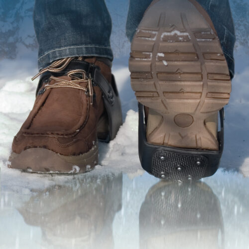 Devisys Fersengleitschutz (Spikes für Schuhe)